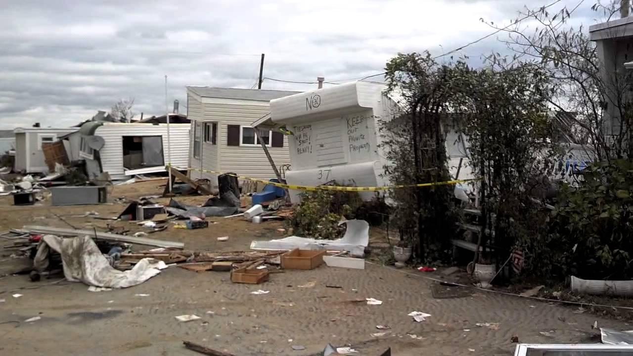 Paradise Trailer Park After Hurricane Sandy Youtube