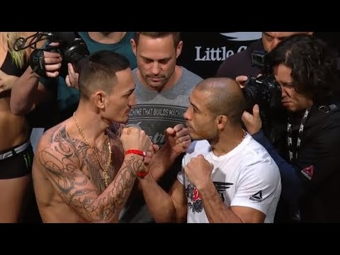 [FULL] UFC 218 official weigh-in with Max Holloway vs. Jose Aldo II | ESPN