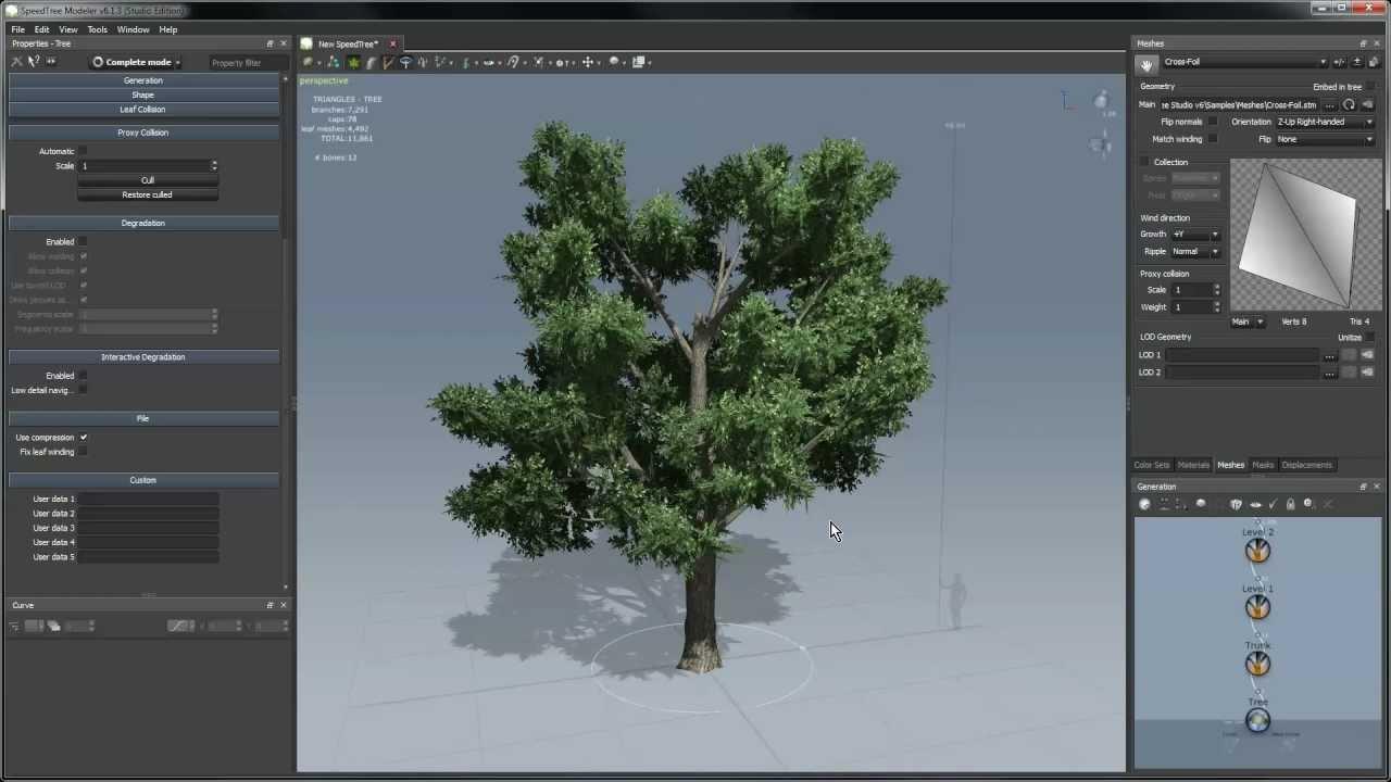 SpeedTree Tutorial: Modeler Basics