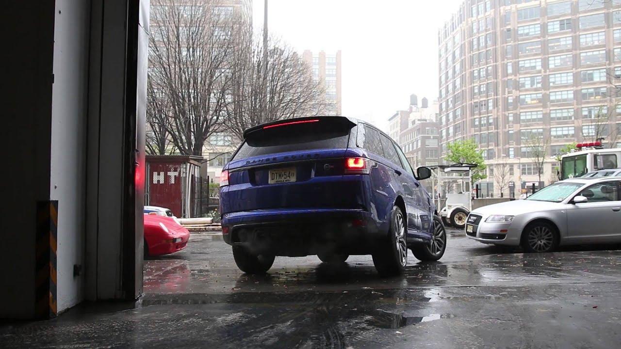 Manhattan Land Rover >> Land Rover Range Rover Sport Svr Exhaust Youtube