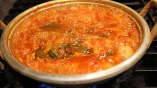 Kimchi Stew (kimchi-jjigae) And A Bean Sprout Side Dish