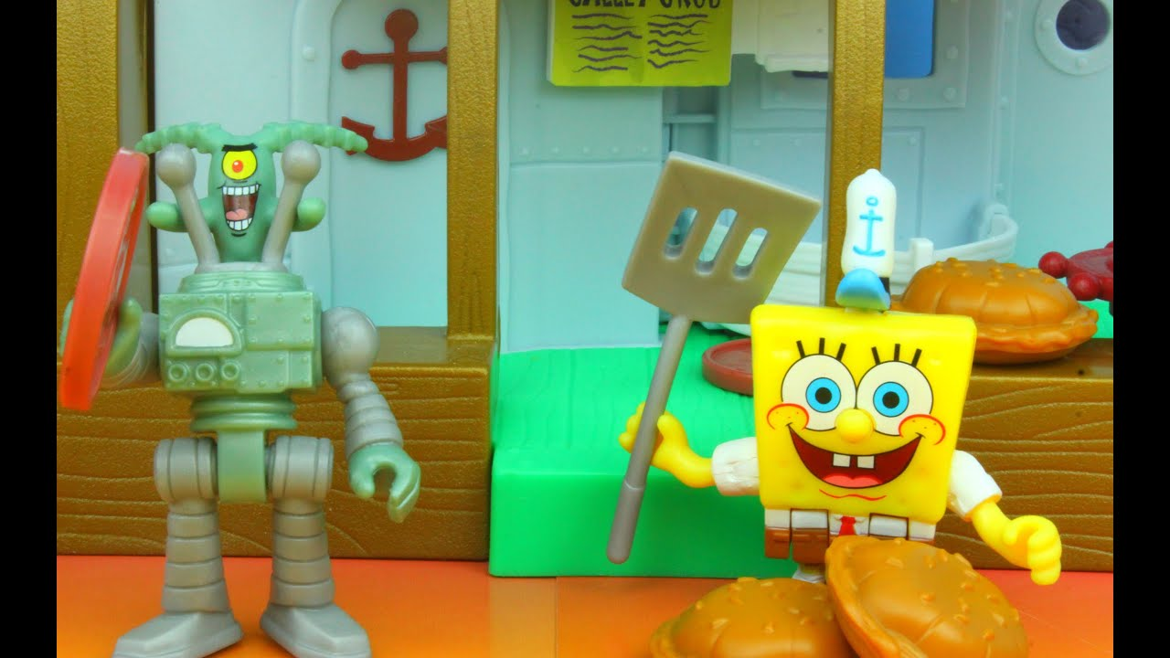 Imaginext Krusty Krab Playset Spongebob Squarepants Plankton Battle for  Crabby Patty!