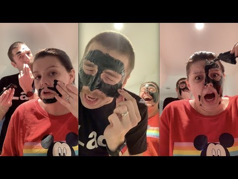 The worlds most painful charcoal face mask 😱🆘