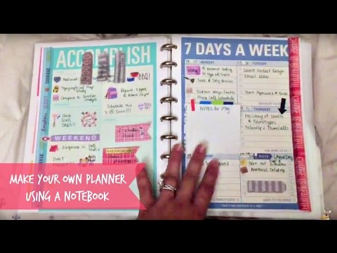 easy tutorial how to make a diy planner with a notebook youtube