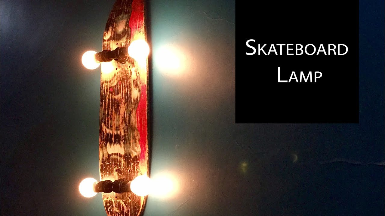 DIY Skateboard Lamp Tutorial | Home Decor | How To Make A Lamp | Lanterns -  Anushree's Craft TV