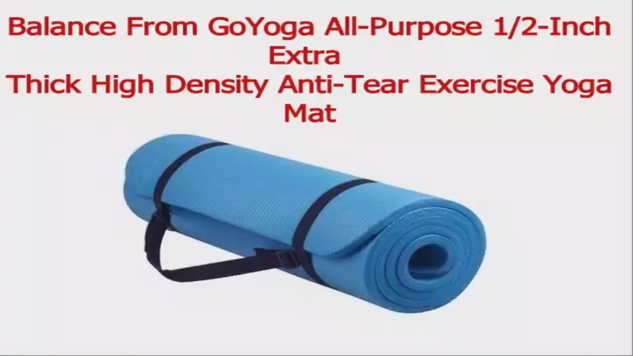 004d55e2d balancefrom GoYoga All-Purpose 1 2-Inch Extra Thick High Density Anti-Tear  Exercise Yoga Mat
