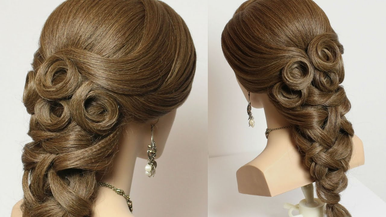 Bridal hairstyle for long hair tutorial youtube junglespirit Choice Image
