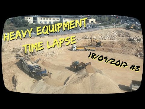 Heavy Equipment Time Lapse , Jerusalem 170918 #3
