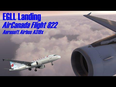 [FSX] ACA822 | St Johns - London Heathrow | Airbus A319 | Vatsim