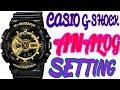 CASIO G-SHOCK ANALOG TIME SETTING OF ILLUMINATOR GA-110GB WRIST WATCH(Shock Proof)