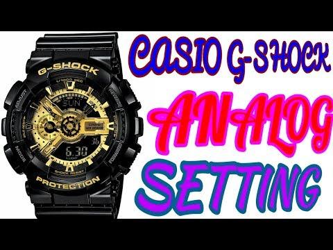 CASIO G-SHOCK ANALOG TIME SETTING OF ILLUMINATOR GA-110GB WRIST WATCH (Shock Proof) thumbnail
