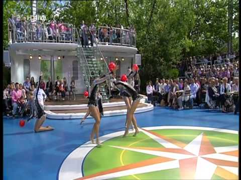 Deutsche Gruppe der Rhythmischen Sportgymnastik beim ZDF Fernsehgarten 07.08.2011