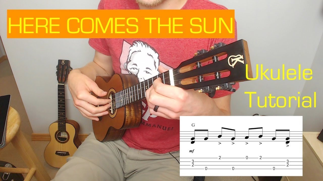 Here Comes the Sun   Ukulele Tutorial