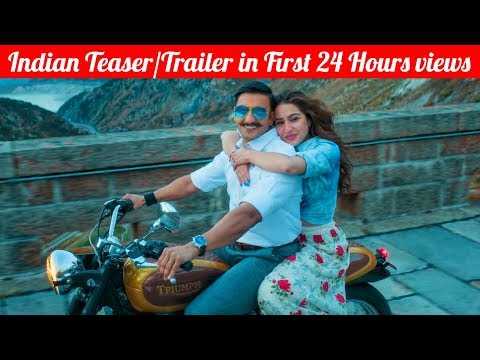 Top 10 Most Viewed Indian/Bollywood Teaser/Trailer in First 24 Hours on YouTube of All Time