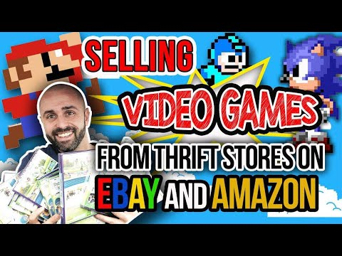 How To Make Easy Money Selling Video Games From Thrift Stores On Ebay And Amazon Youtube
