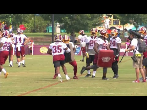 Derrius Guice Redskins Training Camp