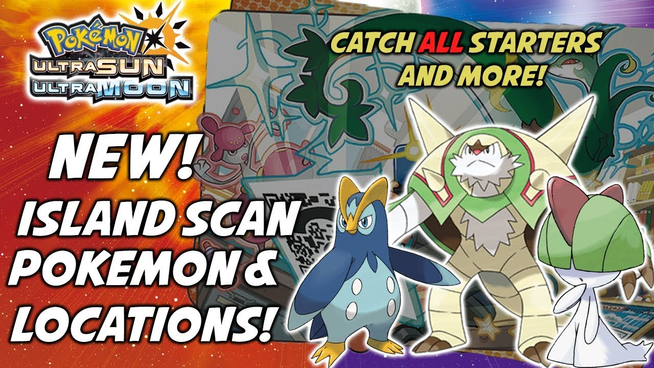 catch all starters and more pokemon ultra sun and ultra moon island