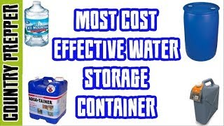 Water Storage Container Comparison