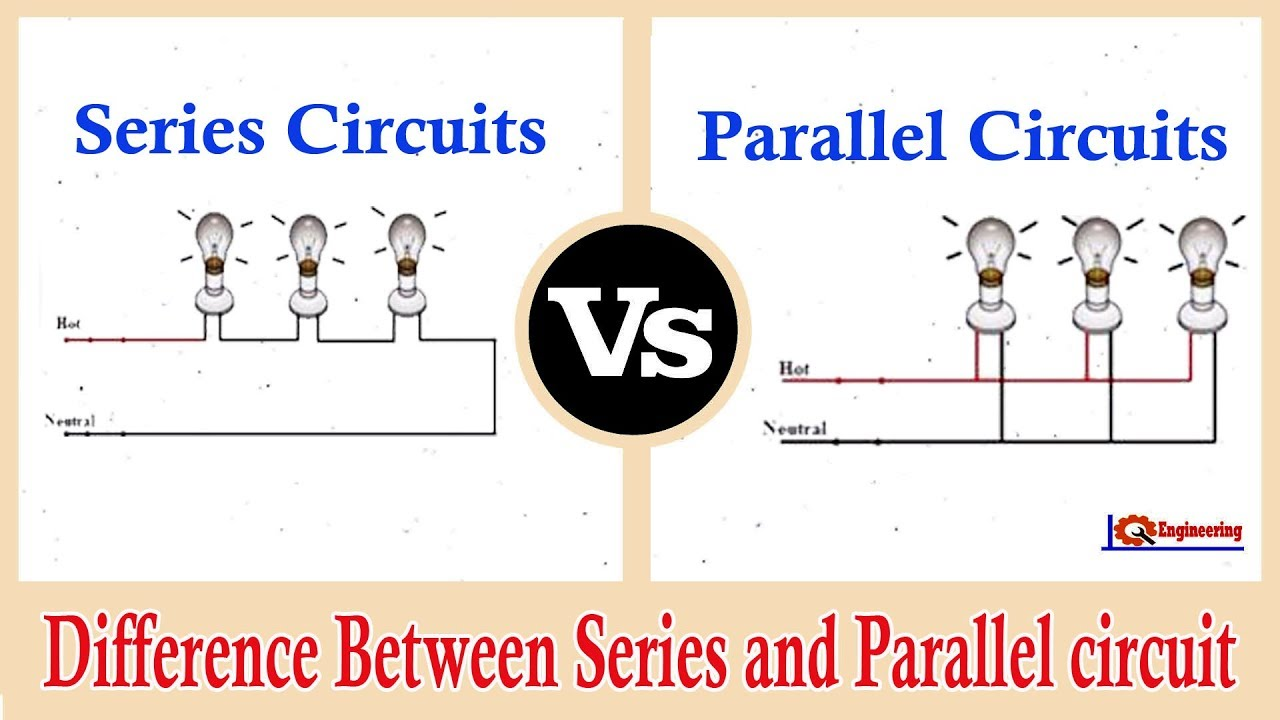 Series and Parallel Circuits - Series VS Parallel - Difference ... on series parallel speaker wiring calculator, batteries in parallel diagram, series circuit diagram, series and parallel electrical wiring, series vs. parallel subwoofer diagram, parallel circuit diagram,
