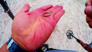 many TREASURES after LABOR DAY SILVER, TOYS, MONEY,RINGS metal detecting