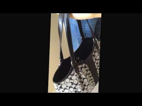 Coach signature Stripe Shoulder Bag