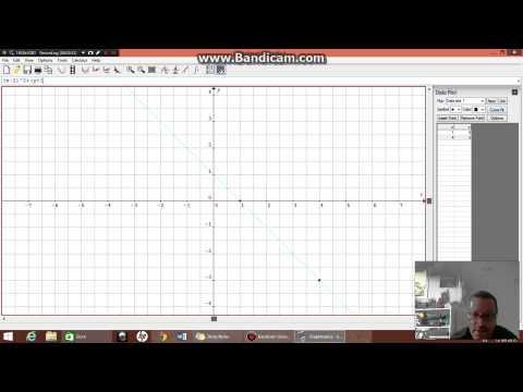 Graphmatica - Data Plot A Straight Line
