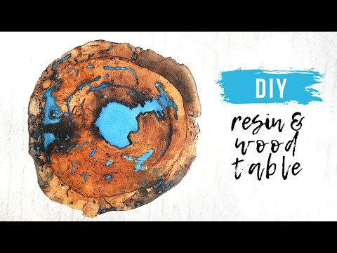 DIY Live Edge Wood and Epoxy Resin Table || How To Fill Voids in Wood