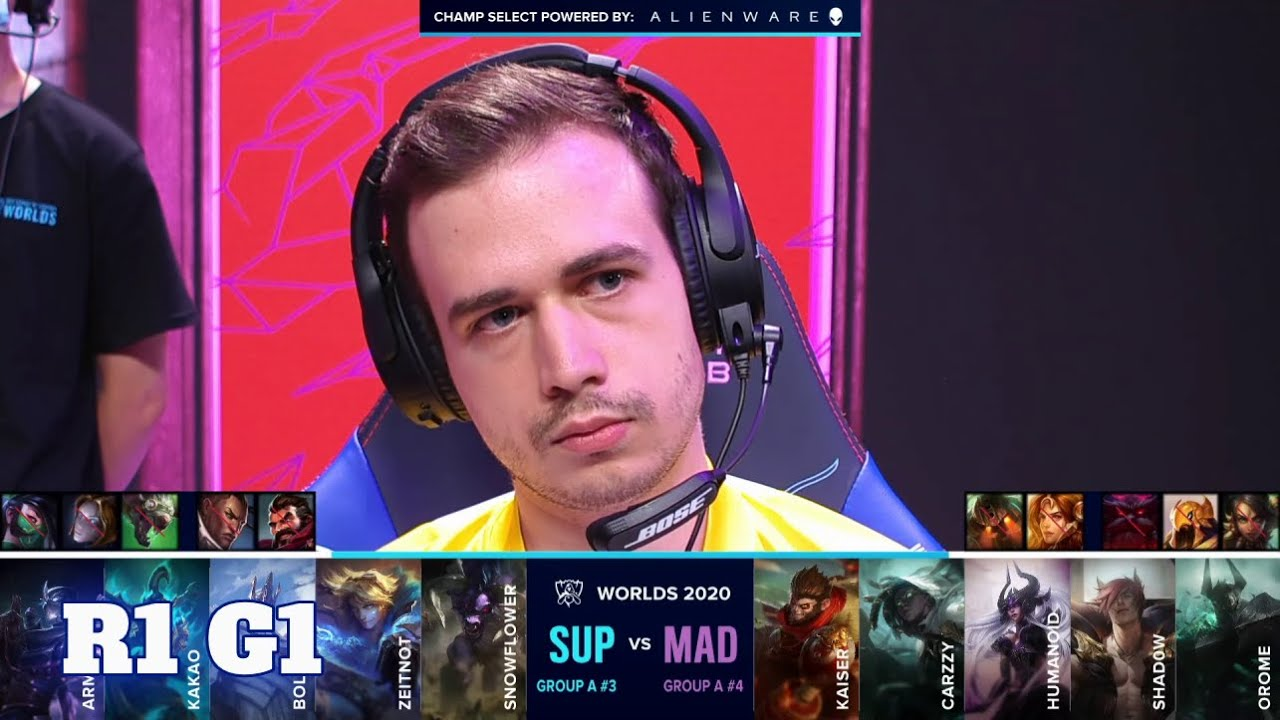 Download SUP vs MAD - Game 1 | Round 1 Play-Ins S10 LoL Worlds 2020 | SuperMassive vs Mad Lions G1
