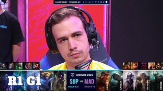 SUP vs MAD - Game 1 | Round 1 Play-Ins S10 LoL Worlds 2020 | SuperMassive vs Mad Lions G1