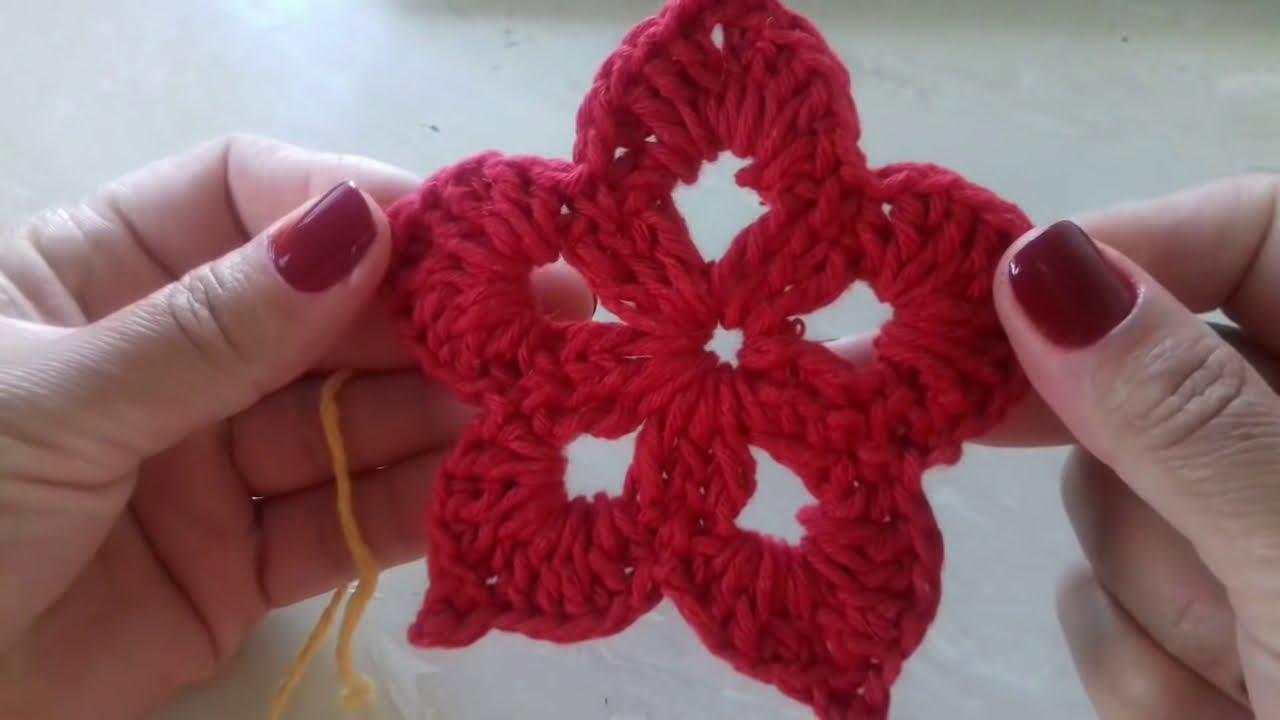 Passo A Passo Flor Em Crochê Para Aplique Com Cristina Coelho Alves