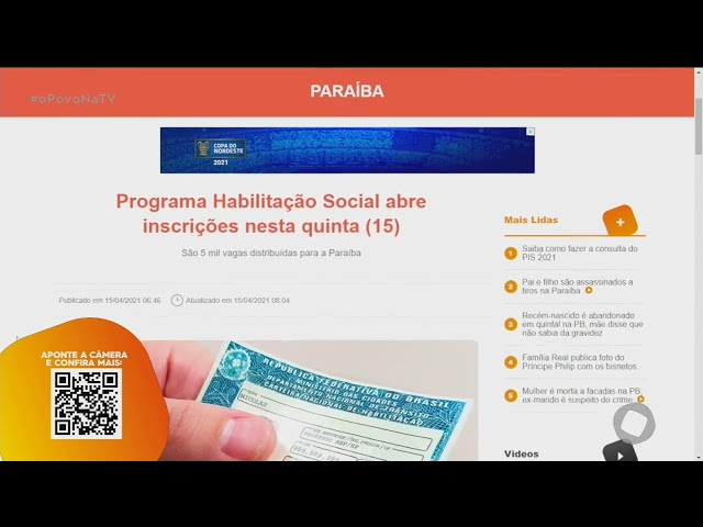Programa Habilitação Social abre inscrições nesta quinta (15)- O Povo na TV