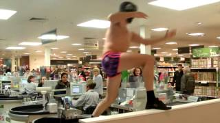 Discoboy vs security Guard supermarket Rave Battle feat Ronnie Pickering