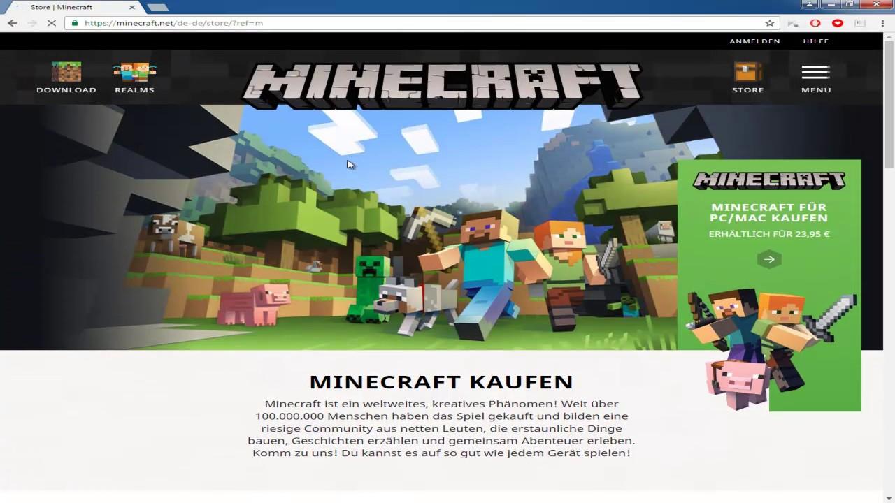 Minecraft Kaufen Und Installieren YouTube - Minecraft spiele kaufen