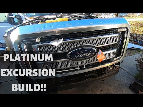 PLATINUM  SUPER DUTY FORD EXCURSION CONVERSION FINALLY STARTED!!