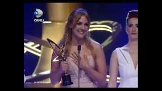 Meryem Uzerli 39.Altın Kelebek Odul Toreni En İyi Kadın Oyuncu'su