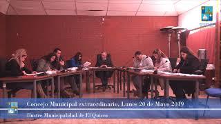 Concejo Municipal extraordiario Lunes 20 de Mayo 2019 - El Quisco