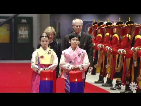 Seoul welcomes EU leaders at G20 summit (raw video)