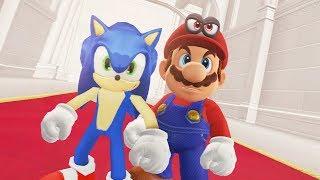 Super Mario Odyssey - Mario vs Sonic Final Boss + Ending