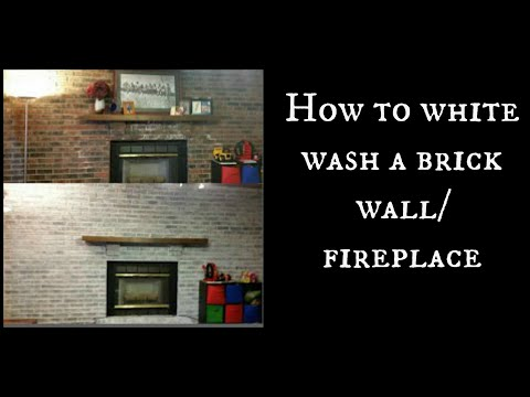 How To White Wash A Brick Wall Fireplace Youtube