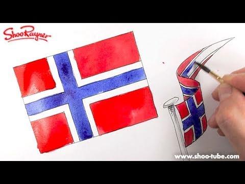 How to draw the Norwegian Flag - Spoken Tutorial - YouTube