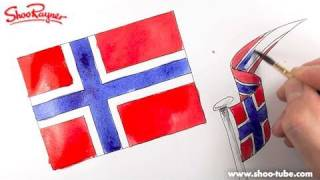 How to draw the Norwegian Flag - Spoken Tutorial