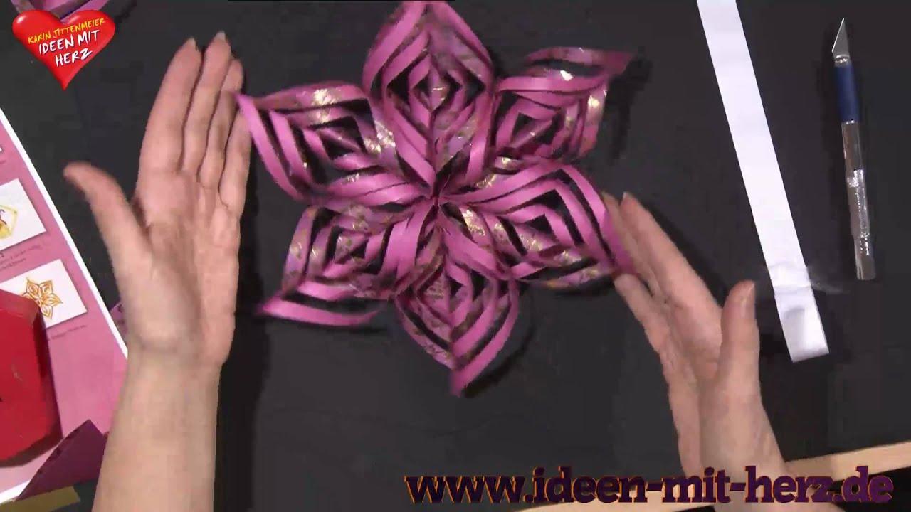 Ideen mit Herz Origami Stern Ornamentstern YouTube ~ 07234914_Gartengestaltung Ideen Mit Licht