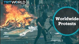 Why are people protesting around the world?
