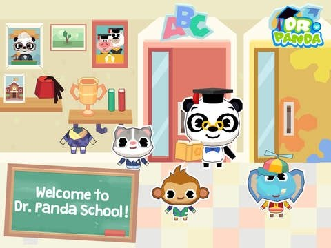 Dr. Panda School Part 1 - iPad app demo for kids - Ellie