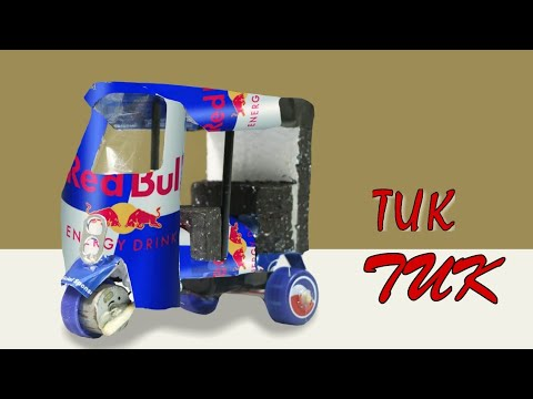 Download How to make an Electrical Rickshaw [ TUK TUK ] out of red bull cans