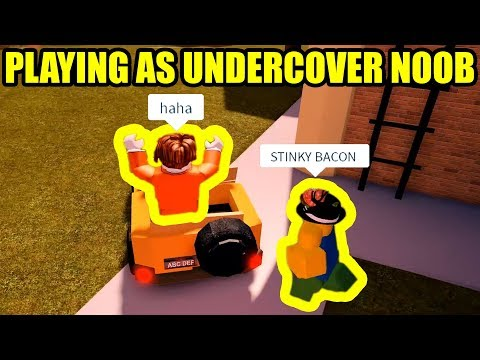 I played as UNDERCOVER NOOB then this happened...   Roblox Jailbreak