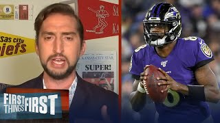 Ravens shouldn't commit to Lamar like the Chiefs did with Mahomes — Nick | NFL | FIRST THING FIRST
