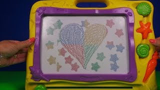 Zapętlaj Great Magnetic Drawing Board for Kids Baby Learn ABC Colors Magic Stamps Writing Board for Children | ToyBroadway