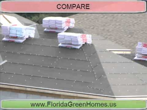 Florida Luxury Home Builder goes Green Compare to regular Roof