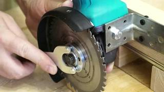 Bright idea with Angle Grinder! To the garage or workshop!